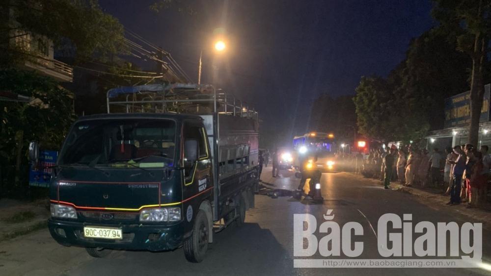 Bắc Giang: Ba phương tiện va chạm làm một người tử vong tại chỗ